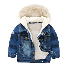 Baby <b>Boys Girls Jeans Jacket</b> 2019 Winter Toddler Denim Fleece ...