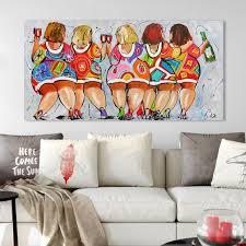 <b>HDARTISAN Vrolijk schilderij Wall</b> Art Picture Canvas Oil Painting ...