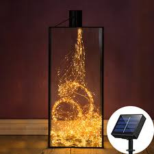 Solar Powered LED Branch Lights 10X2M 200 Vines Copper wire ...
