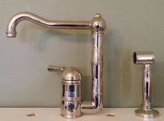 country kitchen column spout: rohl country kitchen single hole column spout kitchen faucet with sidespray rohl