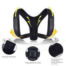Male Female <b>Adjustable Back Support Belt</b> Corset Back Brace Back ...