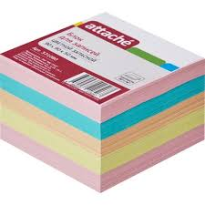 <b>Блок</b>-<b>кубик</b> запасной <b>Attache</b> 9х9х5 см, разноцветный - купить в ...