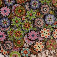 <b>Hot</b>-sale SOFO Lot de <b>100pcs</b> boutons de couture rétro en bois DIY ...