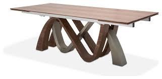 walnut modern rectangle dining table aico michael amini trance rapture rectangular dining table walnut mode