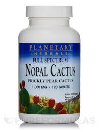 <b>Full Spectrum Nopal Cactus</b> 1000 mg - 120 Tablets