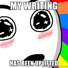 my writing has been uplifted - Amazed Face | Meme Generator via Relatably.com