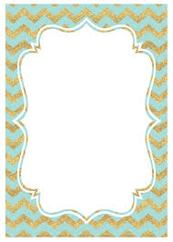 mint and gold party invitations printable paper trail design print the mint gold chevron invitations here