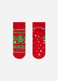 Kids' <b>Christmas Pattern</b> Non-Slip Cotton Ankle Socks - Non-Slip ...