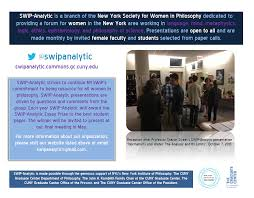 swip analytic gillian russell program in philosophy graduate new york society for women in philosophy dedicated to providing a forum for women in the new york area working on language mind metaphysics logic