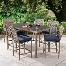 Better Homes & Gardens Gardenvale <b>7</b>-<b>Piece</b> Outdoor <b>Bar</b>-Height ...