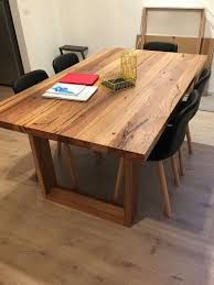 leg dining table whitewashed solid recycled timber dining table with box legs made of locally sourc