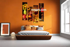 Wall Art Kitchen Decoration 4 Piece Colorful Canvas Wine Home Decor Wall Art