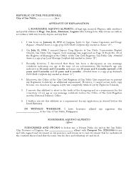 How To Write A Legal Affidavit Formal Receipt Template