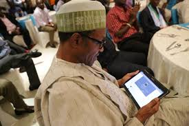 Image result for buhari reading a letter