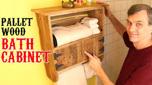 rustic pallet wood bath cabinet unique charm for your bathroom youtube bathroom furniture pallets