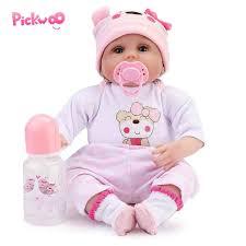 "Pickwoo <b>16</b>"" <b>40cm Bebes</b> Realista Reborn Doll Lifelike Girl Reborn ..."