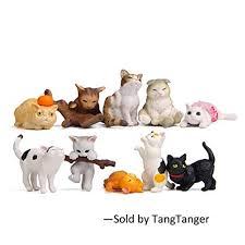 TangTanger 10 pcs (1 Set) <b>Kawaii</b> Animal Cat Characters Toys Mini ...