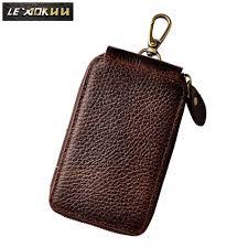 Original <b>Genuine Leather Men</b> Quality Fashion Car Remote <b>Case</b> ...