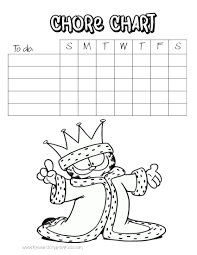chore charts for kids hello kitty garfield chore chart template a picture of garfield