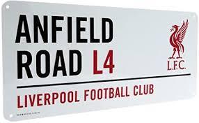 Liverpool FC Metal Street Sign - Liverbird: Home ... - Amazon.com