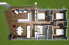 Small House Plans   Open Floor Plan for Efficient Space Use        Architecture Large size Upper Floor Rectangular House Floor Plan Of Contemporary Glass House Design With
