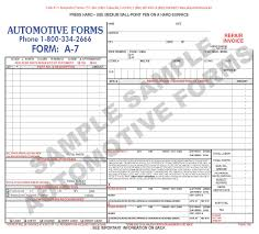 repair orders form a 7 mini repair invoice recommended repairs small 8 1 2 x 7 5 8 version of the a 3 form