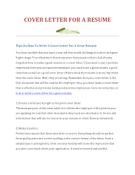 cover letter cover letters for resume sample cover letter for cover letter how to make resumes how to make a cover letter for a resume