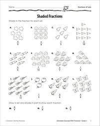 Fraction Part Of A Set Worksheet - Shaded fractions fractions of ...Fraction practice part of a group 1 worksheet education com