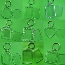 <b>Sale 1PC</b> Unisex Transparent Blank Insert Photo Keychain <b>DIY</b> ...