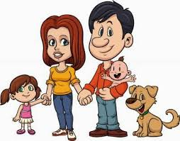 Image result for gambar kartun happy family