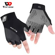 Gloves & Mitts WEST BIKING Cycling Gloves Half Finger <b>Breathable</b> ...