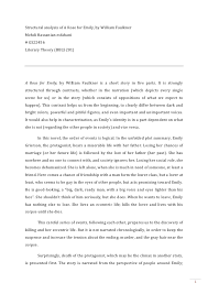 analytical thesis statement for a rose for emily   stalin essay titlesa rose for emily comparison essay