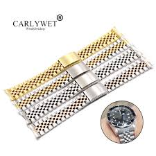 <b>CARLYWET 19</b> 20 22mm Two Tone Hollow Curved End Solid ...