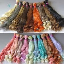 20cm*100cm Doll wig Large wave <b>curls</b> hair for doll fits 1/3 1/4 bjd ...