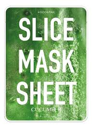 <b>Маски</b>-<b>слайсы тканевые с экстрактом</b> огурца Slice Mask Sheet ...