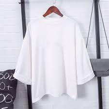 Harajuku Fashion Kpop Tshirt <b>Women Cotton</b> T Shirt Elegant ...