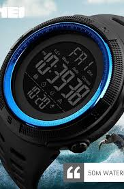 SKMEI Waterproof <b>Mens Watches</b> New Fashion Casual LED Digital ...