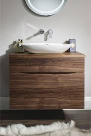 walnut high bathroom sink glide ii american walnut bauhaus bathrooms furniture suites basins ult