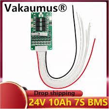 <b>BMS 7S BMS</b> 12V 24v15a 29.4V lithium battery 7SBMS electric ...