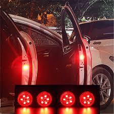 Baseus 2Pcs 6 LEDs <b>Car</b> Openning Door Warning Light Safety Anti ...