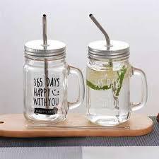 Выгодная цена на mason jar with lid and straw — суперскидки на ...