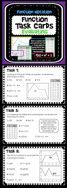 best ideas about solve algebra problems algebra evaluating functions task cards