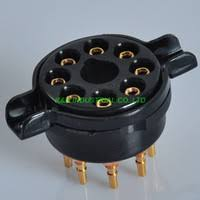 2pcs 8pin octal ceramic tube socket 6sn7 kt66 kt88 el34 5u4g 6ca7 6550 k8a pcb with bracket guitar amp diy