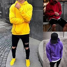 Mens Fashion Basic <b>Casual Hooded Sweatshirt Autumn</b> Spring Slim ...