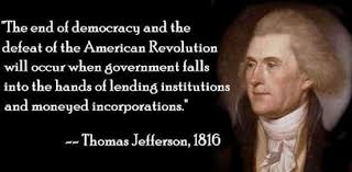 Misquoting the founders, still: Jefferson didn't say banking is ... via Relatably.com