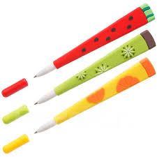 <b>Ручка шариковая Meshu</b> Fruits синяя, 0,7мм, софтач, корпус ...