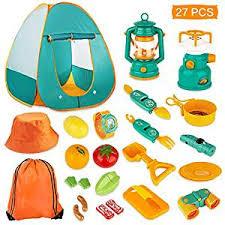KAQINU 27 PCS Kids Camping Set, Pop Up Play Tent ... - Amazon.com