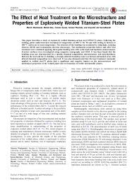 (PDF) The Effect of <b>Heat</b> Treatment on the Microstructure and ...