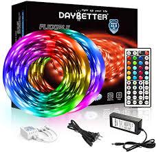 DAYBETTER Led Strip Lights 32.8ft 5050 RGB LEDs ... - Amazon.com