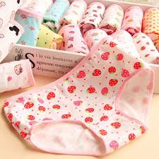 6,<b>12pcs Cute cartoon</b> printing cotton women underwear panties in ...